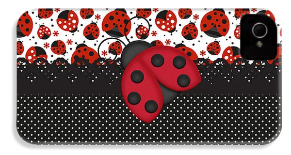 Ladybug Mood  IPhone 4 / 4s Case by Debra  Miller