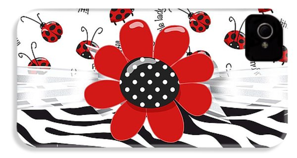 Ladybug Wild Thing IPhone 4 / 4s Case by Debra  Miller