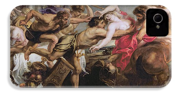 Lapiths And Centaurs Oil On Canvas IPhone 4 / 4s Case by Peter Paul Rubens