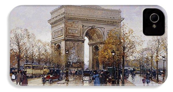L'arc De Triomphe Paris IPhone 4 / 4s Case by Eugene Galien-Laloue