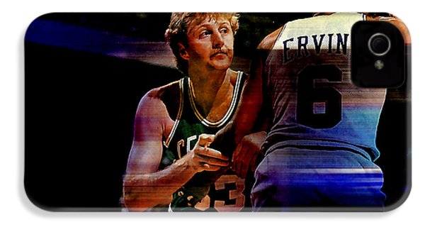 Larry Bird IPhone 4 / 4s Case by Marvin Blaine