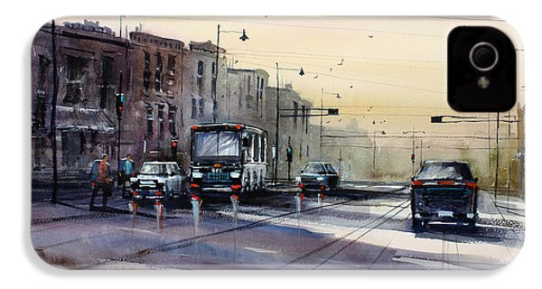 Last Light - College Ave. IPhone 4 / 4s Case by Ryan Radke