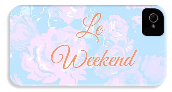 Le Weekend IPhone 4 / 4s Case by Chastity Hoff