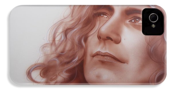 Robert Plant - ' Leaves Are Falling All Around ' IPhone 4 / 4s Case by Christian Chapman Art
