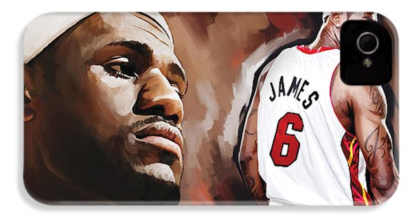 Lebron James Artwork 2 IPhone 4 / 4s Case by Sheraz A