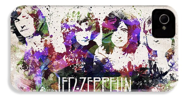 Led Zeppelin Portrait IPhone 4 / 4s Case by Aged Pixel