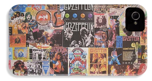 Led Zeppelin Years Collage IPhone 4 / 4s Case by Donna Wilson