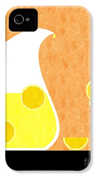 Lemonade And Glass Orange IPhone 4 / 4s Case by Andee Design
