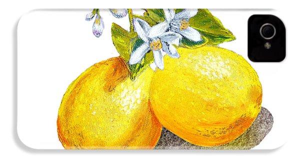 Lemons And Blossoms IPhone 4 / 4s Case by Irina Sztukowski