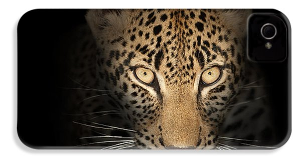 Leopard In The Dark IPhone 4 / 4s Case by Johan Swanepoel