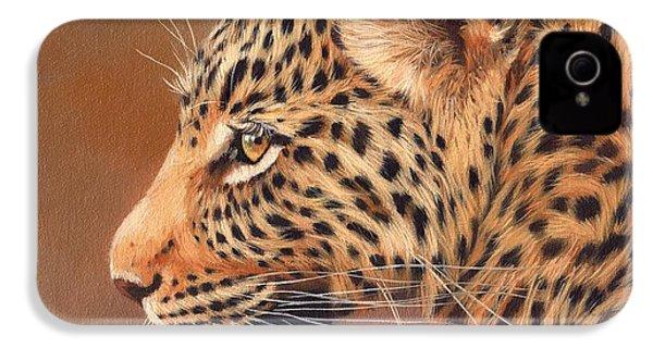Leopard Portrait IPhone 4 / 4s Case by David Stribbling