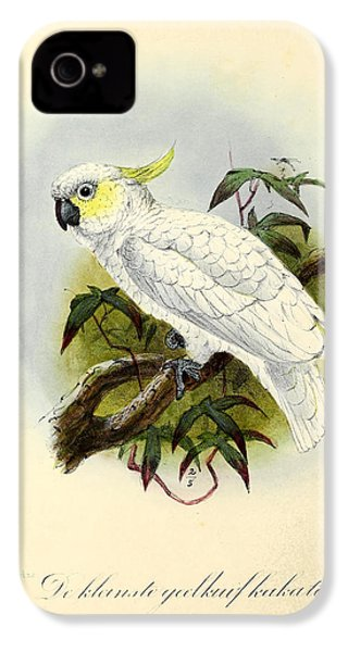 Lesser Cockatoo IPhone 4 / 4s Case by J G Keulemans