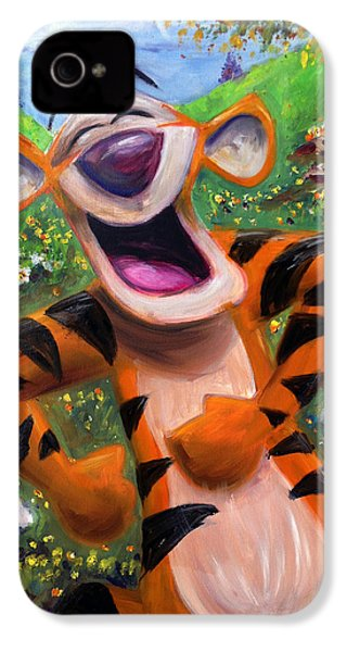 Let's You And Me Bounce - Tigger IPhone 4 / 4s Case by Andrew Fling