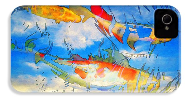 Life Is But A Dream - Koi Fish Art IPhone 4 / 4s Case by Sharon Cummings