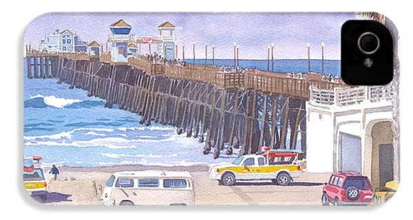 Lifeguard Trucks At Oceanside Pier IPhone 4 / 4s Case by Mary Helmreich