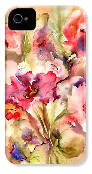 Lilies IPhone 4 / 4s Case by Neela Pushparaj