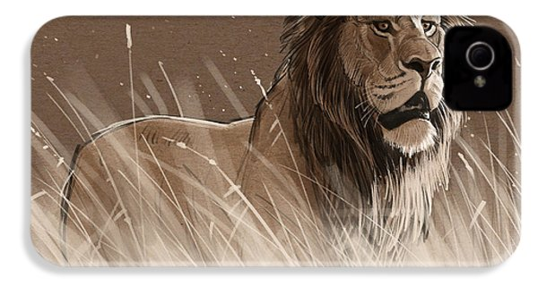 Lion In The Grass IPhone 4 / 4s Case by Aaron Blaise