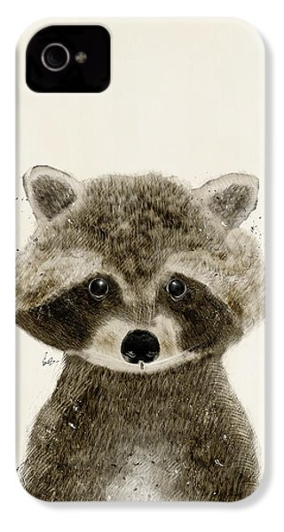 Little Raccoon IPhone 4 / 4s Case by Bri B