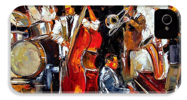 Living Jazz IPhone 4 / 4s Case by Debra Hurd