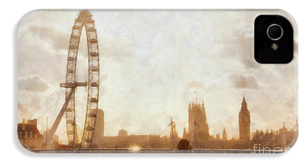 London Skyline At Dusk 01 IPhone 4 / 4s Case by Pixel  Chimp