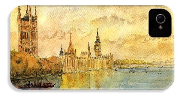 London Thames River IPhone 4 / 4s Case by Juan  Bosco