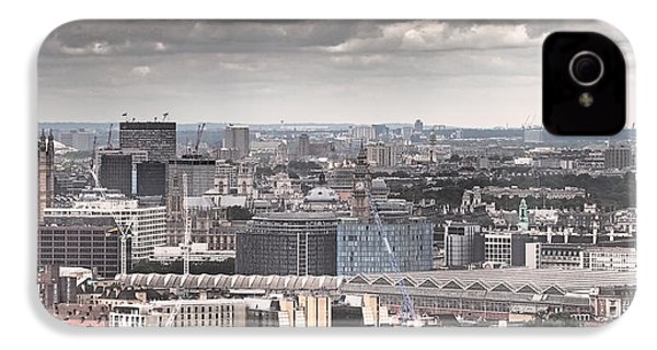 London Under Grey Skies IPhone 4 / 4s Case by Rona Black
