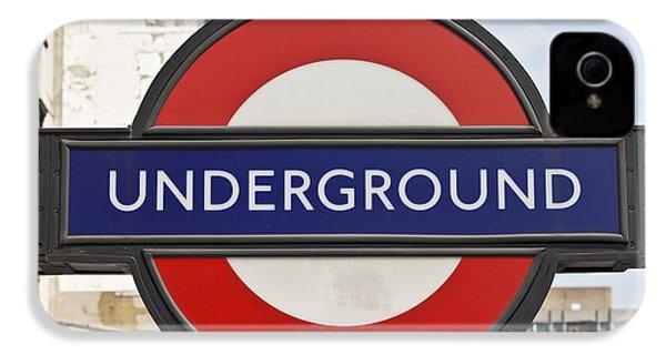 London Underground IPhone 4 / 4s Case by Georgia Fowler