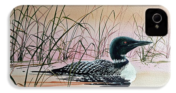 Loon Sunset IPhone 4 / 4s Case by James Williamson