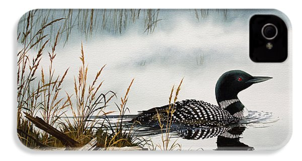 Loons Misty Shore IPhone 4 / 4s Case by James Williamson