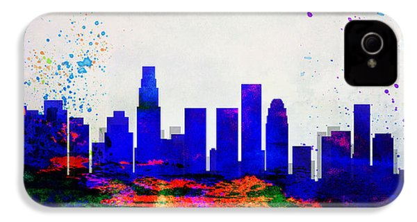 Los Angeles City Skyline IPhone 4 / 4s Case by Naxart Studio