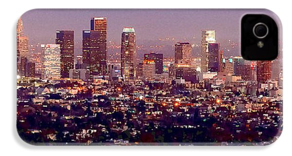 Los Angeles Skyline At Dusk IPhone 4 / 4s Case by Jon Holiday