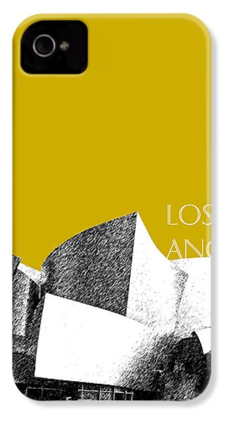 Los Angeles Skyline Disney Theater - Gold IPhone 4 / 4s Case by DB Artist