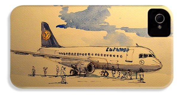 Lufthansa Plane IPhone 4 / 4s Case by Juan  Bosco