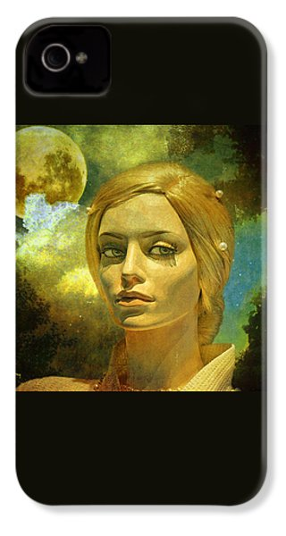 Luna In The Garden Of Evil IPhone 4 / 4s Case by Chuck Staley