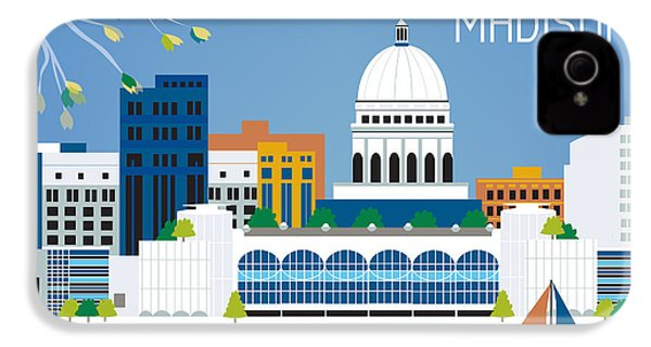 Madison IPhone 4 / 4s Case by Karen Young