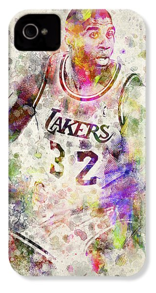 Magic Johnson IPhone 4 / 4s Case by Aged Pixel
