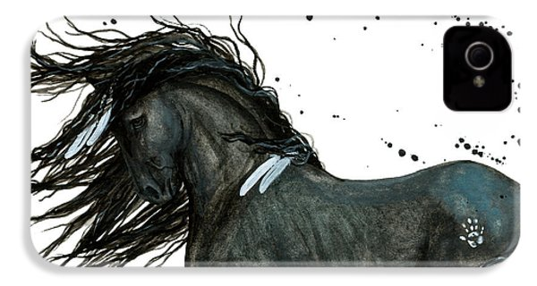 Majestic Friesian Horse 112 IPhone 4 / 4s Case by AmyLyn Bihrle