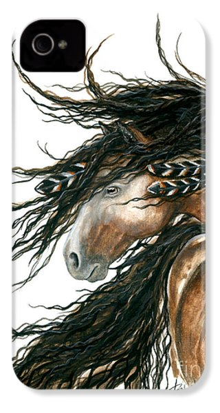 Majestic Pinto Horse 80 IPhone 4 / 4s Case by AmyLyn Bihrle