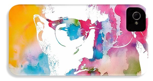 Malcolm X Watercolor IPhone 4 / 4s Case by Dan Sproul