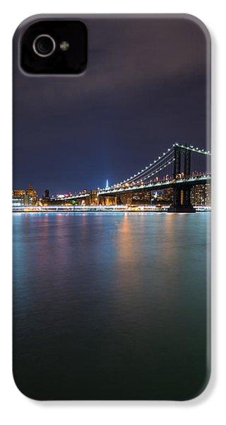 Manhattan Bridge - New York - Usa IPhone 4 / 4s Case by Larry Marshall