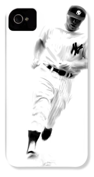 Mantles Gate  Mickey Mantle IPhone 4 / 4s Case by Iconic Images Art Gallery David Pucciarelli