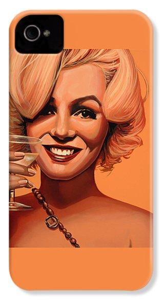 Marilyn Monroe 5 IPhone 4 / 4s Case by Paul Meijering