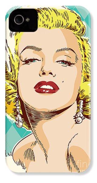 Marilyn Monroe Pop Art IPhone 4 / 4s Case by Jim Zahniser