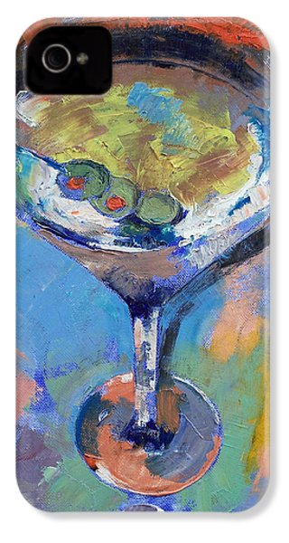 Martini Oil Painting IPhone 4 / 4s Case by Michael Creese
