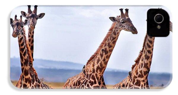 Masai Giraffe IPhone 4 / 4s Case by Adam Romanowicz