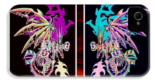 Mech Dragons Pastel IPhone 4 / 4s Case by Shawn Dall