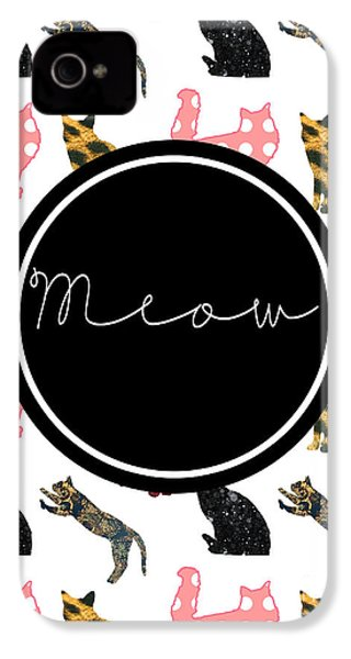 Meow IPhone 4 / 4s Case by Pati Photography