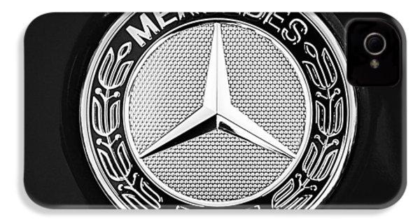 Mercedes-benz 6.3 Gullwing Emblem IPhone 4 / 4s Case by Jill Reger