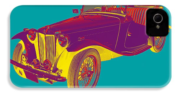 Mg Convertible Antique Car Pop Art IPhone 4 / 4s Case by Keith Webber Jr