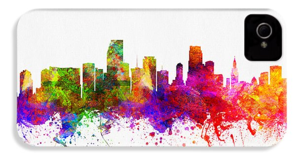 Miami Florida Skyline IPhone 4 / 4s Case by Aged Pixel